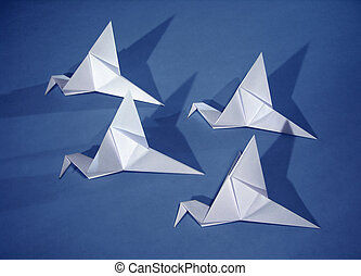 4 paper birds