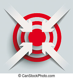 4 Paper Cut Arrows Target PiAd