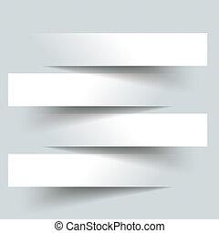 4, papper, baner, klippande