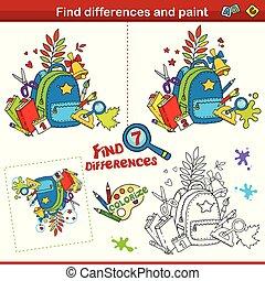 4., partie, coloration, différences