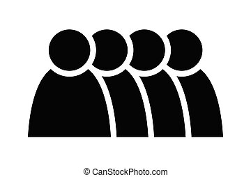 4 people icon. Group of persons. Simplified human pictogram. Modern simple flat vector icon