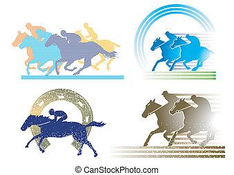 4, pferd rennen, charaktere