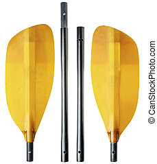 whitewater kayak paddle - 4-piece breakdown (take-apart)...