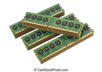 4 pile of computer memory modules 2