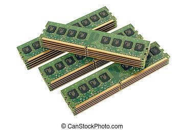 4 pile of computer memory modules 2
