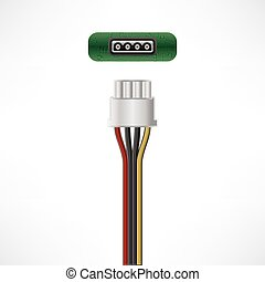 Power cable - 4-Pin Peripheral Power cable plug & socket...