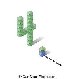 4 - Pixel Isometric Alphabet - Numbers