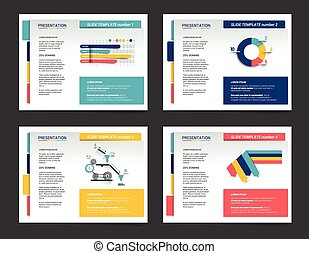 4 presentation business templates. Infographics for leaflet,...