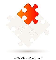 4, puzzle, parties, option, une