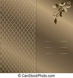 4., quadro, ouro, fundo