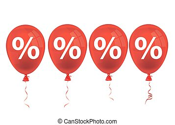 4 Red Balloons Percents