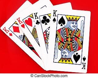 4, rey, tarjetas