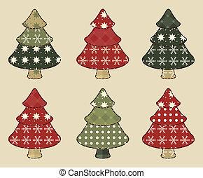 4, set, kerstboom
