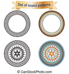 4 Set of round pattern