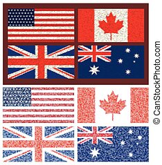 4, set, vlaggen