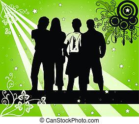 4, silhouettes, jeune