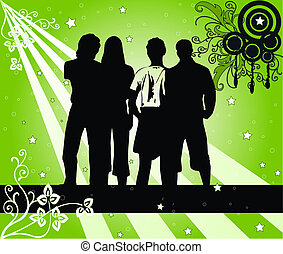 4, silhouettes, jonge