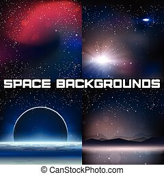 4 Space Vector Backgrounds