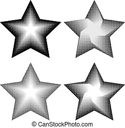 4 stars in halftone style