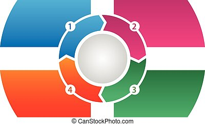 4 Step Process Flow Corporate Info-graphic Vector - Very...