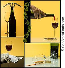 4 steps of wine