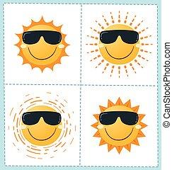 4 sun icon collection