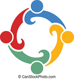 4., teamwork, vektor, kongres