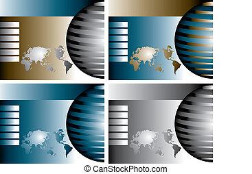 4 vector globes