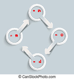 4 White Rings 4 Arrows Cycle
