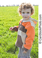 4 year old boy facial expression