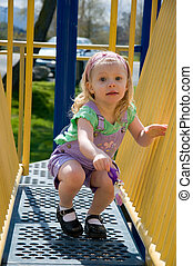 4 Year Old Girl Playing Outdoors