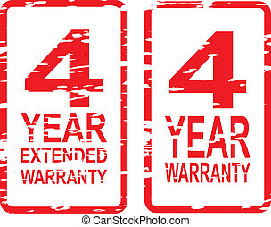 4 Year Warranty Stamps