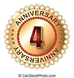 4 Years Anniversary Golden Label