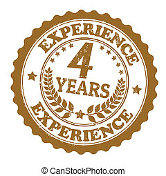 4 Years Experience stamp