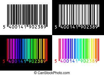 4, zbiór, barcodes