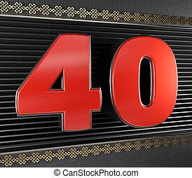 40, 結び目, 無限, 数, 赤