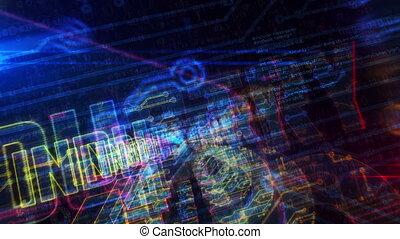 4.0, animatie, ingang, cyberspace, meldingsbord, industrie,...
