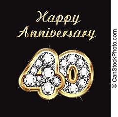 40, anni, anniversario, compleanno