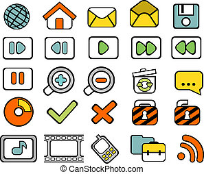 40 doodle web icons