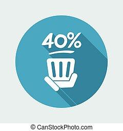 40% label