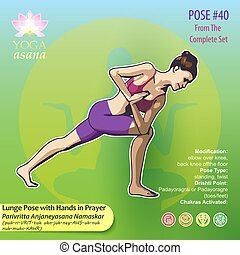 40 Lunge Pose with Hands in Prayer