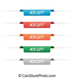 40% off paper tag labels
