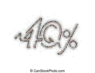 40% OFF Particle Sale Discount Banner. Discount offer price tag. Vector Illustration.