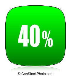 40 percent green icon