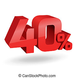40 percent illustration