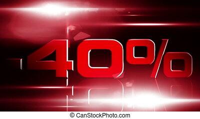 40 percent OFF 03 - 40 percent OFF discount animation