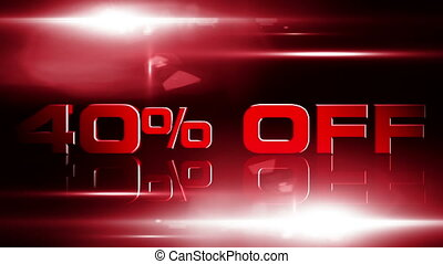 40 percent OFF 04 - 40 percent OFF discount animation