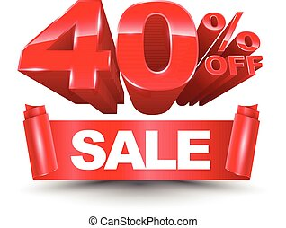 40 percent off sale red