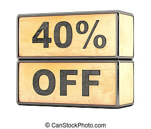 40 percent sale discount
