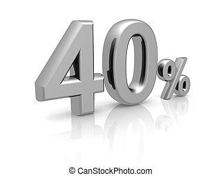 40 percents discount symbol